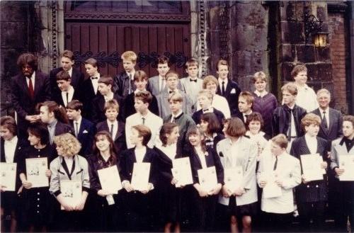 1987 Hilfspredigerin Meyer, Pfarrer Prenzel und Pfarrer Vollmer
