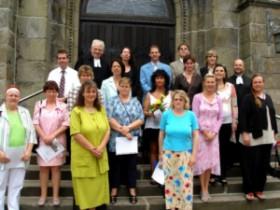 2006-06-28 Silbernekonfirmation Pfarrer Hendler und Pfarrer Portmann