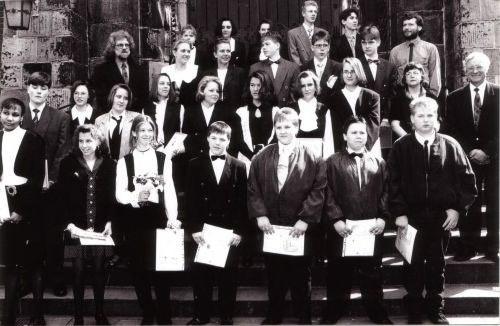 1994-04-17 Vikar Lessing, Pfarrer Prenzel, Pfarrerin Scholz-Druba und Pfarrer Vollmer