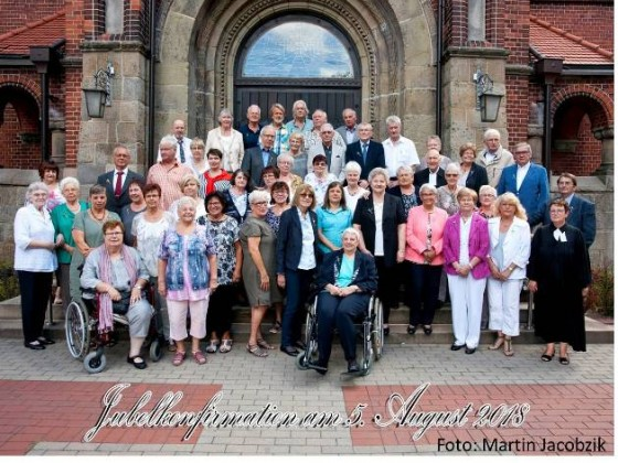 2018-08-05 Jubelkonfirmation Pfarrerin Scholz-Druba und Pfarrer Vollmer 1