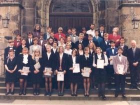 1993-04-25 Vikar Lessing, Pfarrerin Scholz-Druba und Pfarrer Vollmer