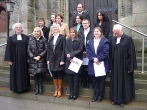 2009-03-16 Silbernekonfirmation Pfarrer Prenzel und Pfarrer Vollmer