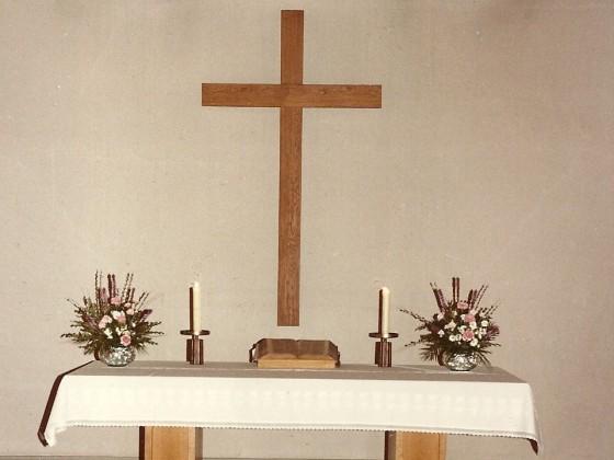 1995 vor der Altarraumsanierung
