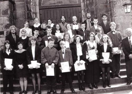 1994-04-24 Vikar Lessing, Pfarrer Prenzel, Pfarrerin Scholz-Druba und Pfarrer Vollmer