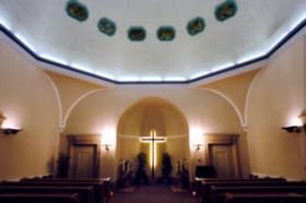 Trauerhalle Innenraum